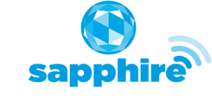 sapphire logo: laundry management & connectivity